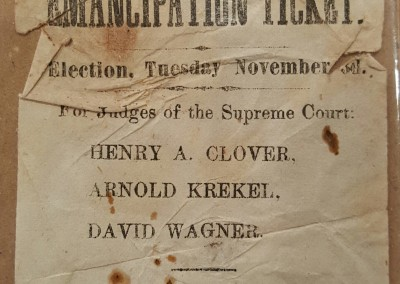 1863 Missouri Anti Slavery Election Flyer
