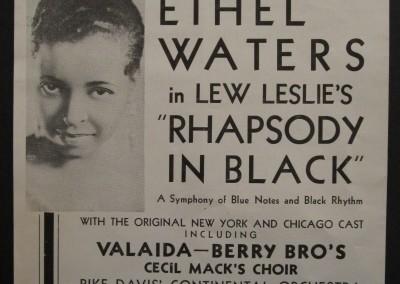 1931 Ethel Waters Jazz Broadside