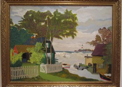 Vintage American Folk Art Painting