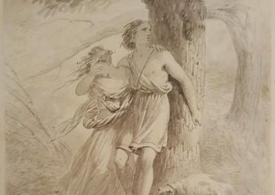 François Grenier de Saint-Martin Ink Wash Painting