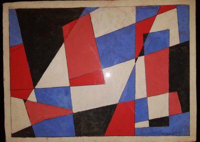 Rolph Scarlett Gouache Painting