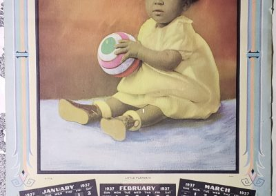 1937 African American Undertaker Calendar