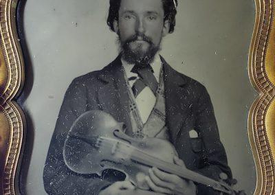 American Violin Musician Ambrotype